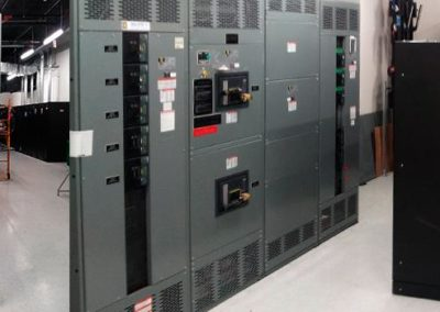 ATS, electrical main panel and N+1 UPS System