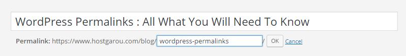 WordPress Permalinks SEO Structure Posts